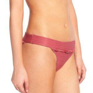 For Love & Lemons St. Lucia Bikini Bottom in Rose